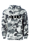 X P L R Black and White Camo Hoodie