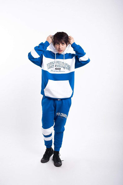 Colby Brock: Take Chances Royal Color Block Hoodie