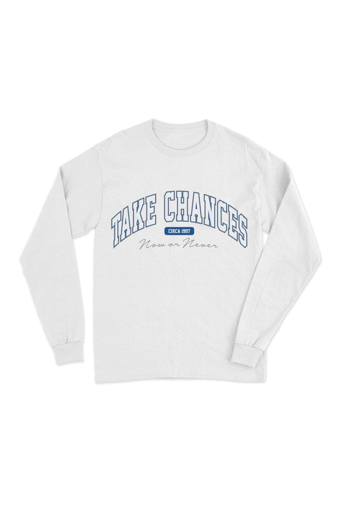 Colby Brock: Take Chances White Long Sleeve