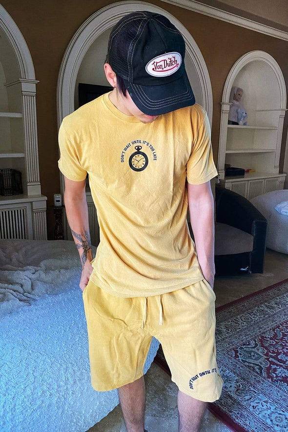 Colby Brock: Vintage Yellow Don't Wait Shorts
