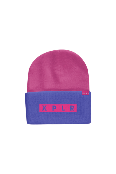 X P L R: Staple Beanie Purple Edition