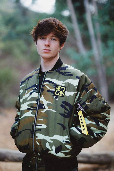 X P L R Uncharted Territories Camo Bomber Jacket