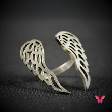 Unique Wing shaped adjustable ring in German Silver
