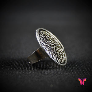 Symmetrically designed (Adjustable) German Silver ring