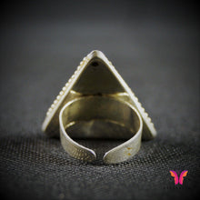 Triangular Shaped adjustable German Silver Party Ring