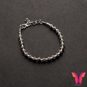 Beautiful German Silver Adjustable Charm bracelet