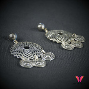 Sexy light weight German Silver Filigree Earrings