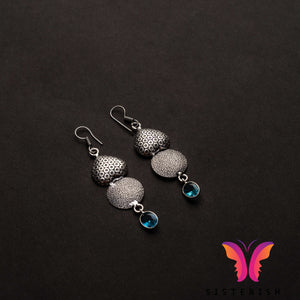 Beautiful German Silver everyday earrings | Sisterish Indian Clothing and Jewelry