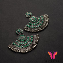 Beautiful Designer Chand Bali Earrings | Sisterish German Silver Collection
