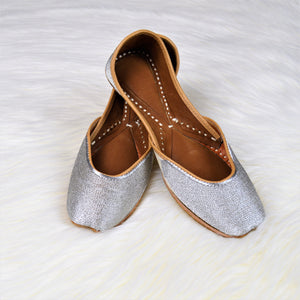 Silver Dazzle - Beautiful Silver Jutti