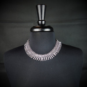 German Silver Traditional Choker with Poniard (Khanjar) pattern