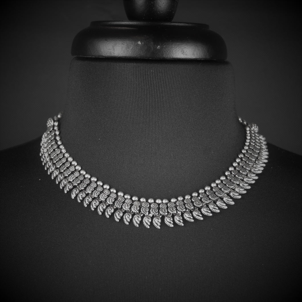 German Silver Choker with traditional pattern Ethnic Necklace