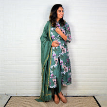 Silk Suit with Classy Pants and Sequence Dupatta