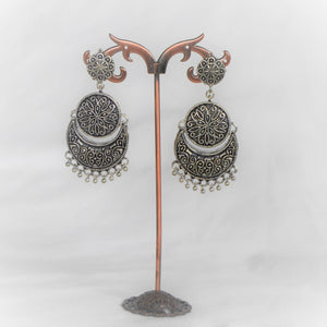 Beautiful Indian (Ethnic) German Silver Earring - 3 drops!