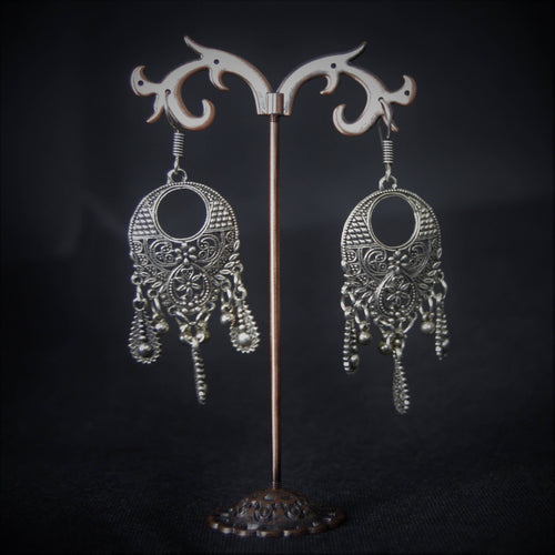 Beautiful German Silver Danglers Earrings will make you forget your Drop & Dangle earrings