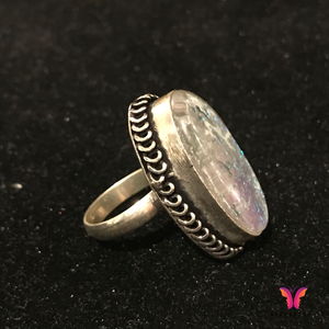 Natural Crystal Stone Ring in German Silver | Sisterish... German Silver Jewelry