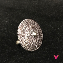 Beautiful Round beaded Adjustable German Silver Party Ring | Sisterish...