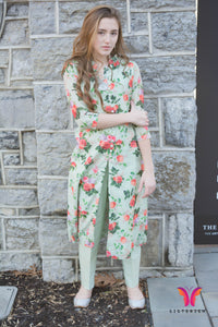 Beautiful Printed Kurta Set with Cigarette Pants for the modern you