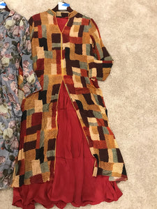 Designer Silk Abstract print Palazzo Set