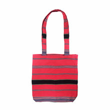 Load image into Gallery viewer, Handwoven Multicolor Tote - Hot Pink