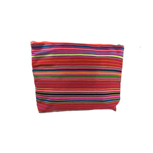 Karen Handwoven Make Up Bag in Red Multi
