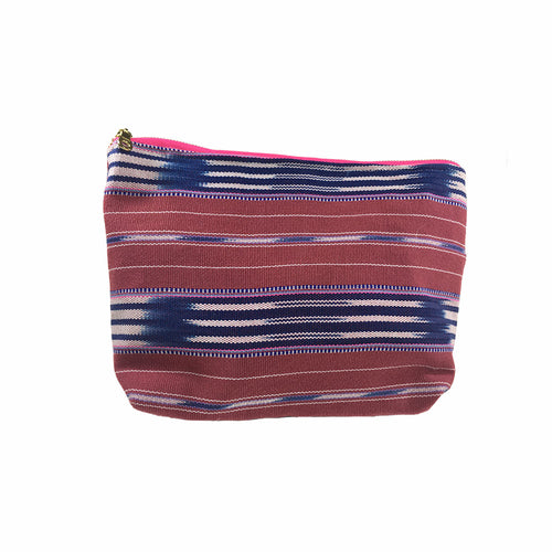 Karen Handwoven Make Up Bag in Mauve