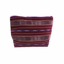 Load image into Gallery viewer, Karen Handwoven Make Up Bag in Burgundy