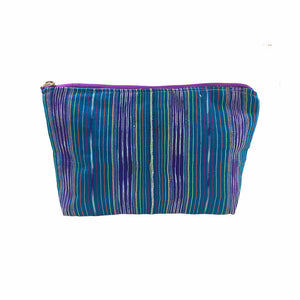 Karen Handwoven Make Up Bag in Sky Blue