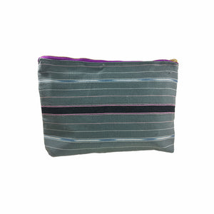 Karen Handwoven Make Up Bag in Gray