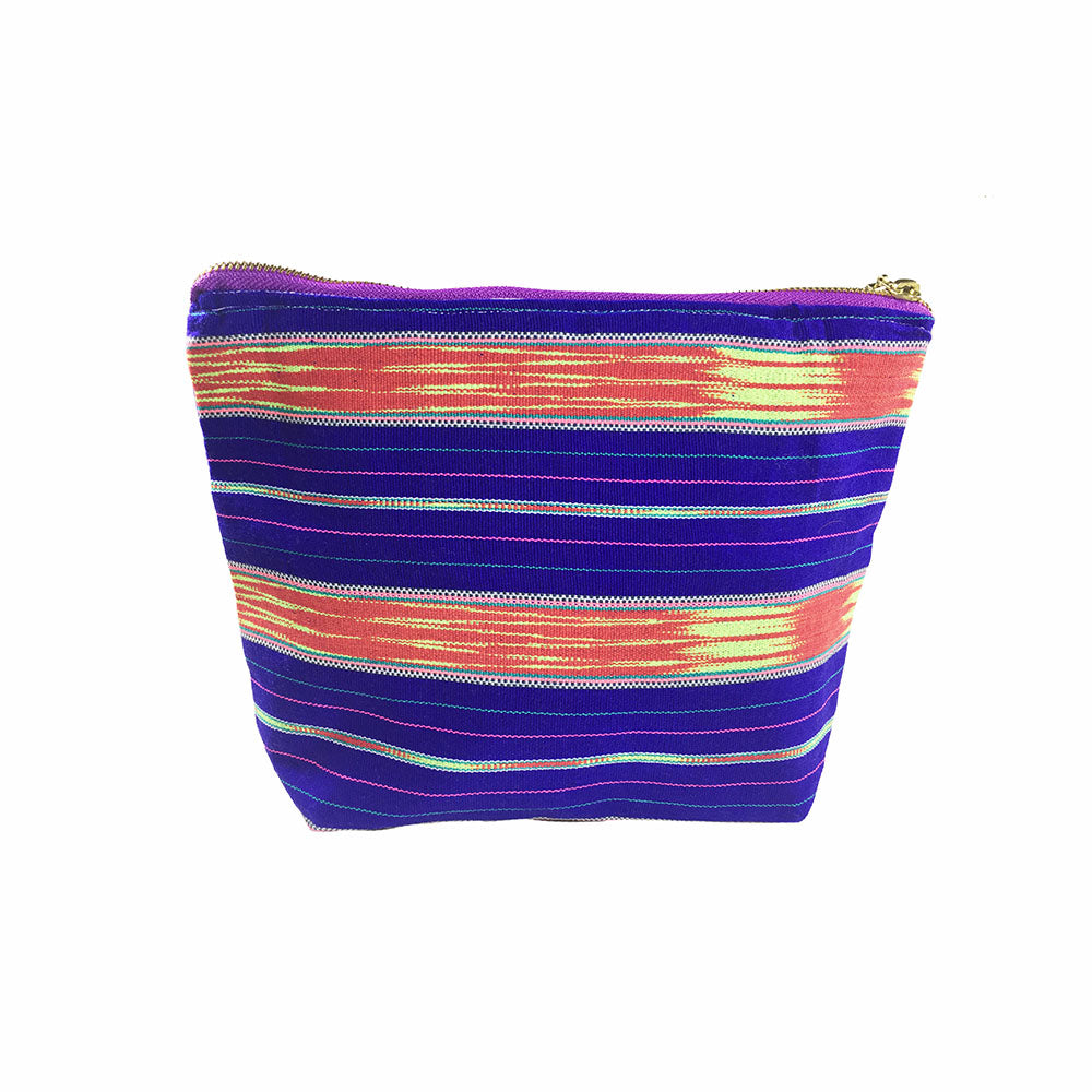 Karen Handwoven Make Up Bag in Violet