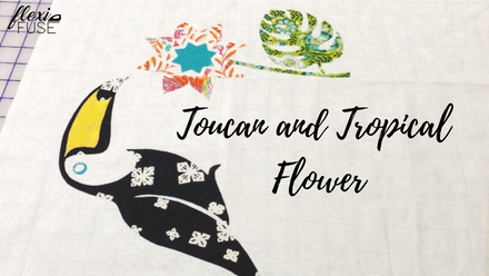 #madewithflexifuse : Toucan and tropical flower