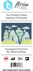 "Pre-Printed FlexiFuse Templates: ""Huangshan Province"" by Madi Hastings"
