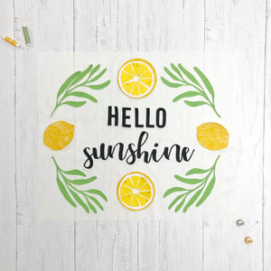 "Laser-cut Kit: ""Hello Sunshine"" #madewithflexifuse"