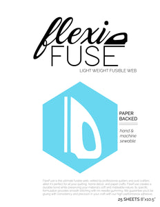 "25 Sheets (8"" x 10.5"") - FlexiFuse Lightweight Fusible Web"