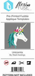 "Pre-Printed FlexiFuse Templates: ""Unicornia"" by Madi Hastings"