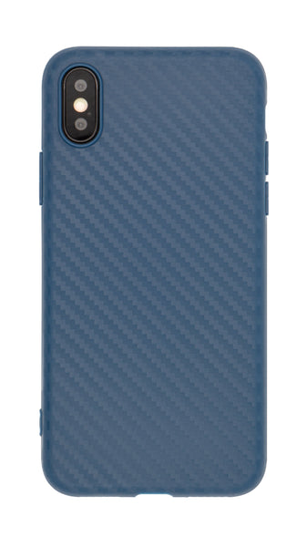 Craftphono Iphone X Premium Carbon Case Design Handyhülle Blau