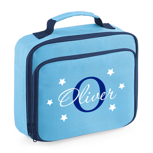 Two-tone Name and Initial Cooler Lunch Bag