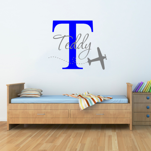 Personalised Plane Name Wall Sticker