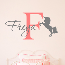 Load image into Gallery viewer, Personalised Unicorn Name Wall Sticker