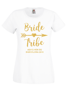Bride Tribe Personalised Hen Do / Hen Party T-Shirt