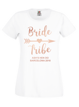 Load image into Gallery viewer, Bride Tribe Personalised Hen Do / Hen Party T-Shirt