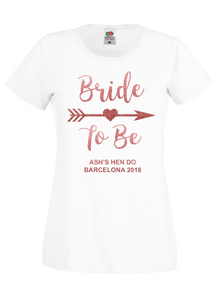 Bride To Be Personalised Hen Do / Hen Party T-Shirt