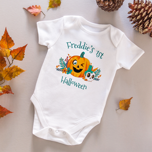 First Halloween Personalised Baby Vest