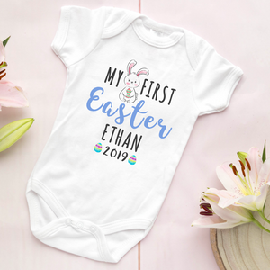 Personalised my first easter baby vest