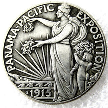 Load image into Gallery viewer, 1915 Panama Half Dollar Silver Coin - SculpturalArt