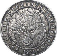 Load image into Gallery viewer, 1921 The Wolves Pack Silver Coin - SculpturalArt
