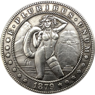 1879 Baywatch Silver Coin - SculpturalArt
