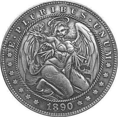 1890 Angel Silver Coin Type 152 - SculpturalArt