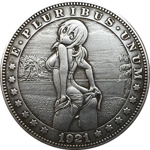 1921 The Innocent Girl Silver Coin - SculpturalArt