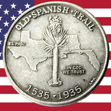 Load image into Gallery viewer, 1935 Spanish Trail Half Dollar Silver Coin - SculpturalArt